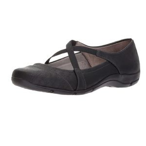 LifeStride Defend black flat comfort shoes size6.5